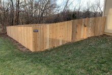 4' tall solid cedar privacy fence with 1x6x4 pickets
