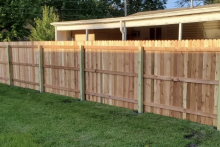 Homeowner's view of 6' tall solid cedar privacy with 1x4x6 pickets