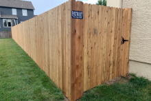 6' tall solid cedar privacy fence with 1x4x6 pickets