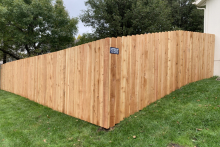 6' tall solid cedar privacy fence with 1x6x6 pickets