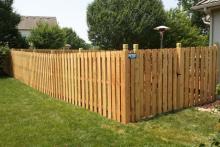 6' tall cedar shadow box fence with Berkley posts