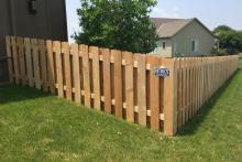 4' tall cedar shadow box fence
