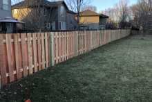 Homeowner's view of 4' tall cedar shadow box fence