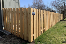 5' tall cedar shadow box fence