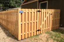 6' tall cedar shadow box fence