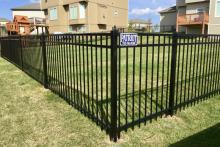 Ornamental Montage Majestic steel fence