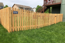 4' tall spaced cedar picket fence with 1x4x4 pickets