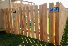 4' tall spaced cedar picket fence with 1x6x4 pickets