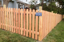 4' tall spaced cedar picket fence with 1x6x4 pickets and Berkley posts