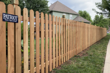 5' tall spaced cedar picket fence using 1x4x5 pickets and Berkley posts